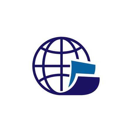 globe page logo vector icon, page icon vector