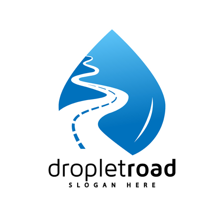 Water Droplet Road Logo Vector Element Road Logo Template Royalty