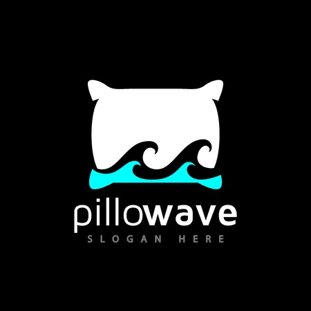 pillow wave logo vector element. wave logo template Illustration