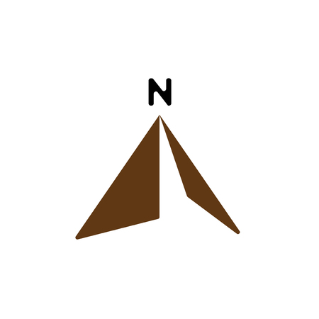 north arrow compass logo vector icon template