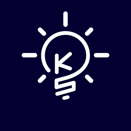KS Initial Letter with creative bulb Logo vector element. Initial letter bulb Logo Template