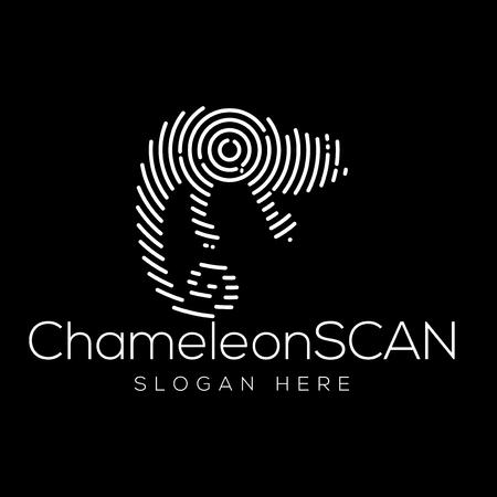 chameleon Scan Technology Logo vector Element. Animal Technology Logo Template