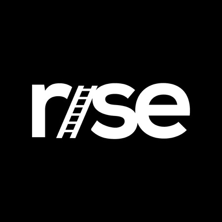 rise or raise stair text logotype vector template