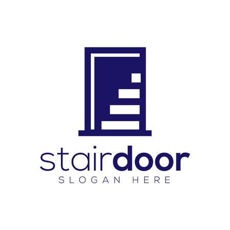 Stair Door logo icon vector template