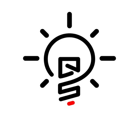 Q S Initial Letter with creative bulb Logo vector element. Initial letter bulb Logo Template Logó