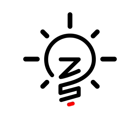 ZS Initial Letter with creative bulb Logo vector element. Initial letter bulb Logo Template
