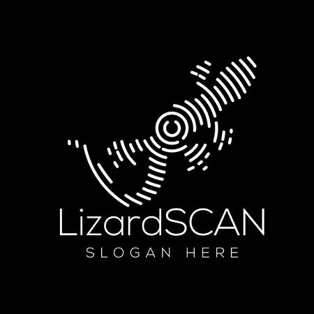 Lizard Scan Technology Logo vector Element. Animal Technology Logo Template Illustration