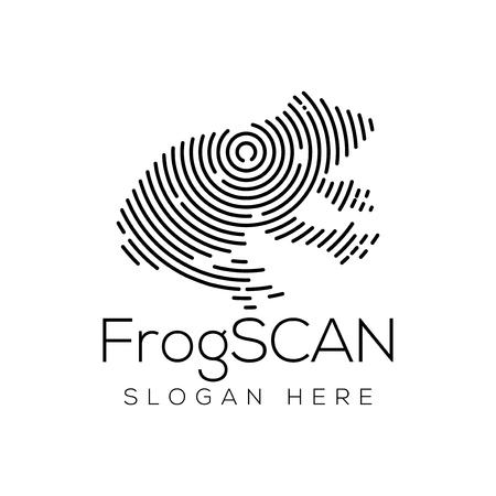 Frog Scan Technology Logo vector Element. Animal Technology Logo Template