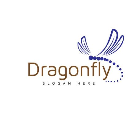 Modello di vettore del logo della libellula