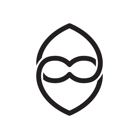 Love line Linked infinity logo icon vector Banque d'images - 106123574