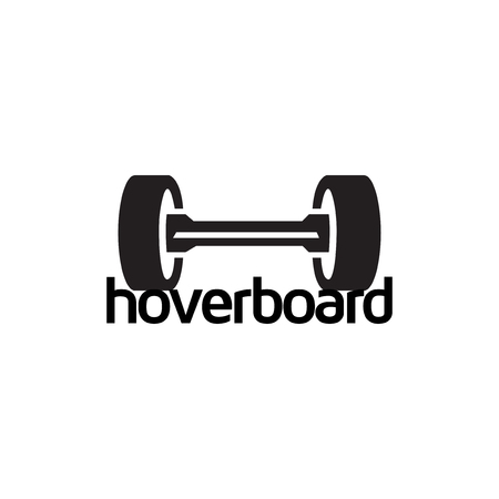 hove-board or skateboard electric logo icon vector