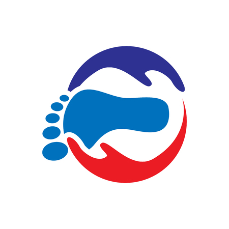 foot massage health care logo icon vector