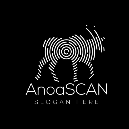 Anoa Scan Technology Logo vector Element. Animal Technology Logo Template