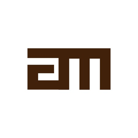 am Initial Letter lowercase Linked logo icon vector Illustration