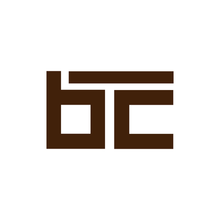 b c Initial Letter lowercase Linked logo icon vector