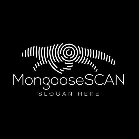 Mongoose Scan Technology Logo vector Element. Animal Technology Logo Template