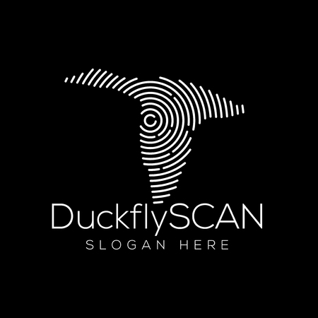 Duck Scan Technology Logo vector Element. Animal Technology Logo Template Illustration