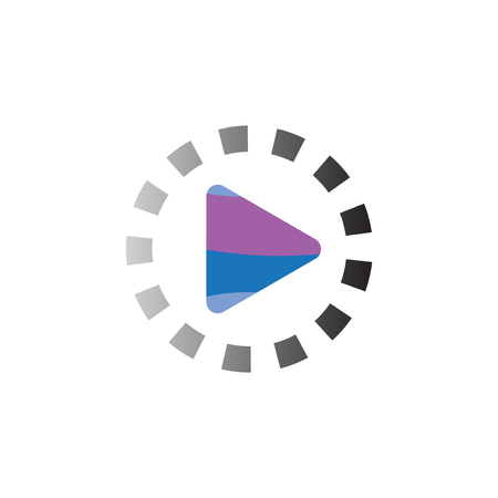 play media logo icon vector template