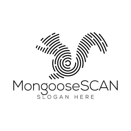 Mongoose Scan Technology Logo vector Element. Animal Technology Logo Template