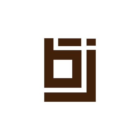 b j Initial Letter lowercase Linked logo icon vector