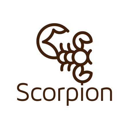 Line art scorpion logo icon vector template Illustration