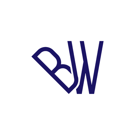 b w Initial Letter Linked logo icon vector Çizim