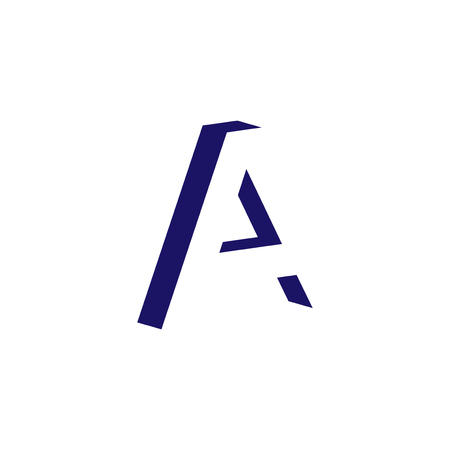 A Letter logo in negative space