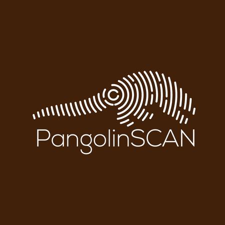 Pangolin Scan Technology Logo vector Element. Animal Technology Logo Template