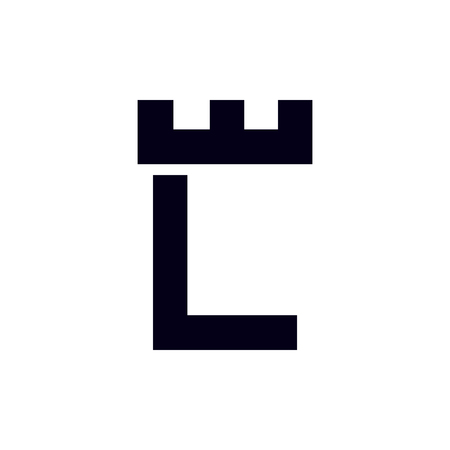 Fortress castle initial L logo template vector Illustration