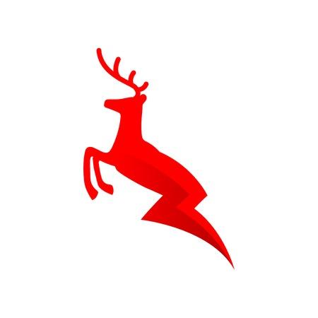 Deer electric energy logo vector