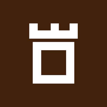 Fortress castle initial O logo template vector Logo