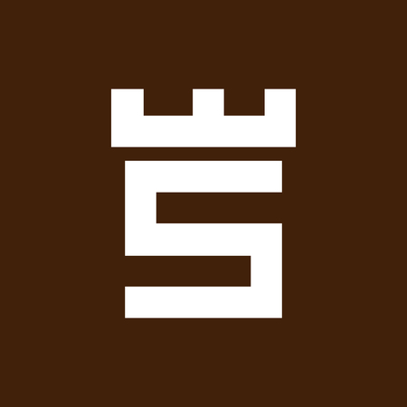 Fortress castle initial S logo template vector