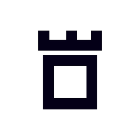 Fortress castle initial O logo template vector