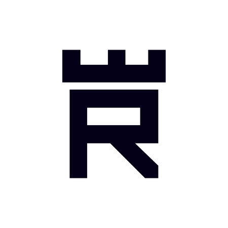 Fortress castle initial R logo template vector 矢量图像