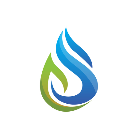 water droplet gas industry logo icon vector