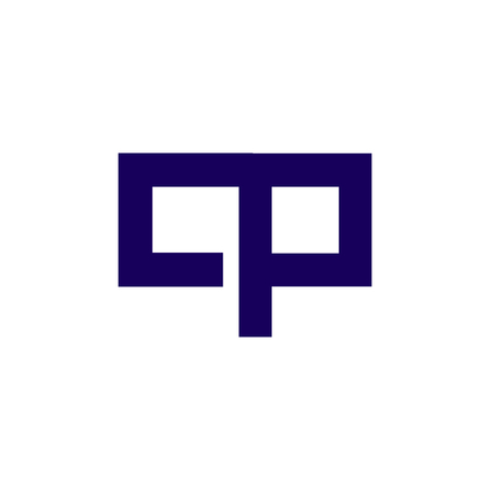 c p Initial Letter lowercase Linked logo icon vector Stock fotó