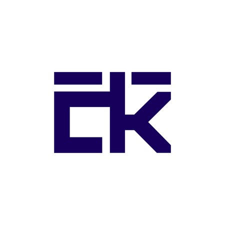 ck Initial Letter lowercase Linked logo icon vector