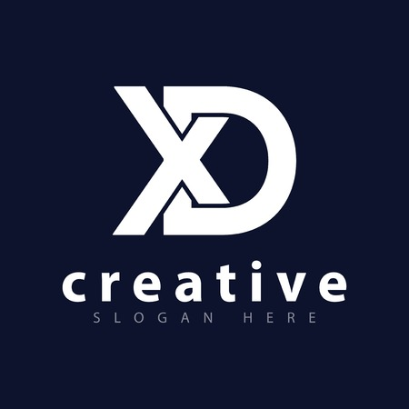 XD Anfangsbuchstabe Logo Vektor