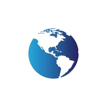 Globe map icon vector template Ilustração