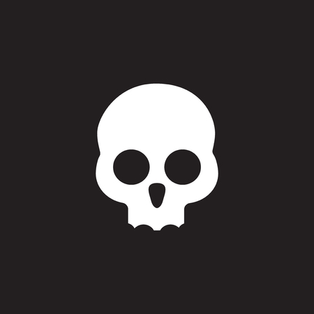 skull people logo icon template  イラスト・ベクター素材