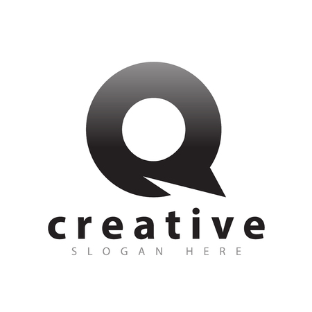 Q circle abstract logo vector
