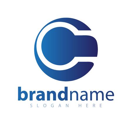 C letter center circle logo icon template Banque d'images - 106855266