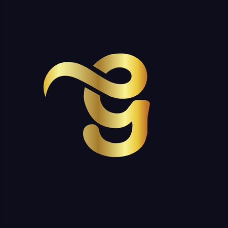 e g initial letter gold logo icon vector Logó