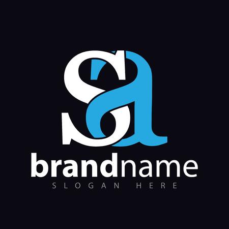 sa initial letter logo icon vector
