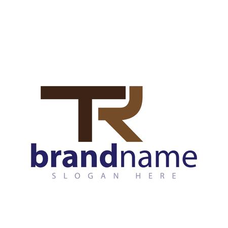 TR Initial letter logo vector
