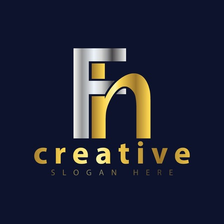 F H Initial letter logo icon vector Illustration