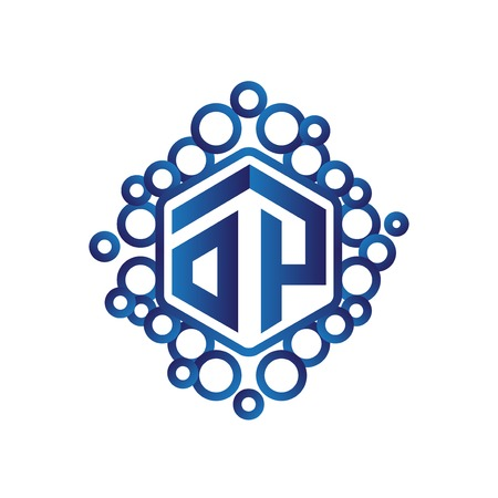 OP Initial letter hexagonal logo vector
