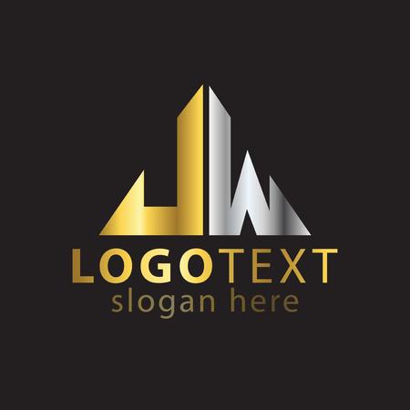 J W Initial letter logo vector