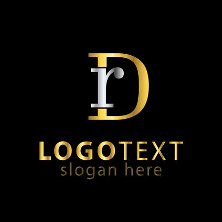 RD Initial letter logo vector Logó