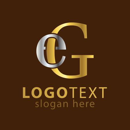 E G Initial letter logo icon vector Banco de Imagens - 107321732